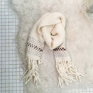 Abercrombie Wool Blend Chunky Cable Knit Scarf